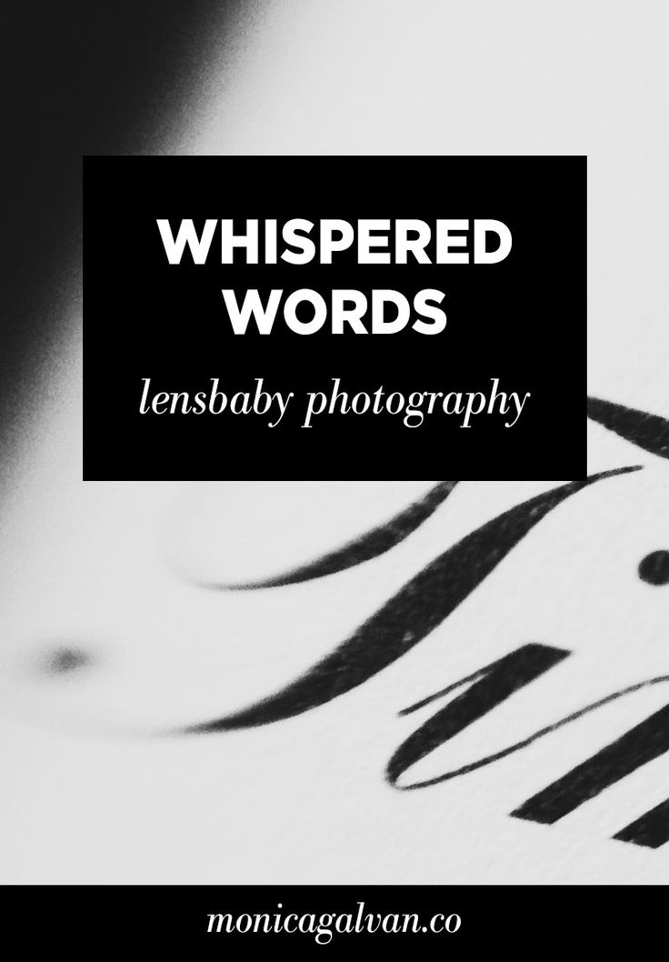 Mobile Lensbaby Photography: Whispered Words