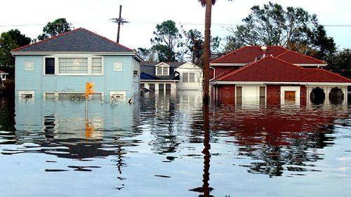 August 29, 2005:  Hurricane Katrina Hits New Orleans  Eight years ago today, Hurricane Katrina made landfall in New Orleans, Louisiana. The Category 4 storm claimed almost 2,000 lives and caused $80 billion in damage.