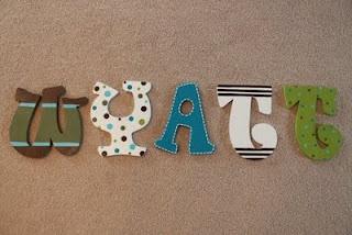 The Snickerdoodle Shop: Wyatt's Mod Nursery Letters