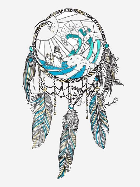 Dreamcatcher with art in the middle new artwork ideas for Dream catcher spray painting