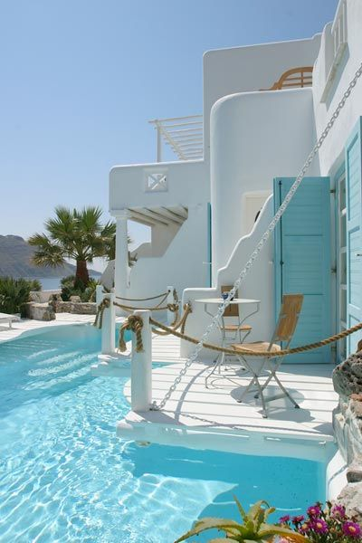 Kivotos Hotel, Mykonos, Greece. I would never leave.