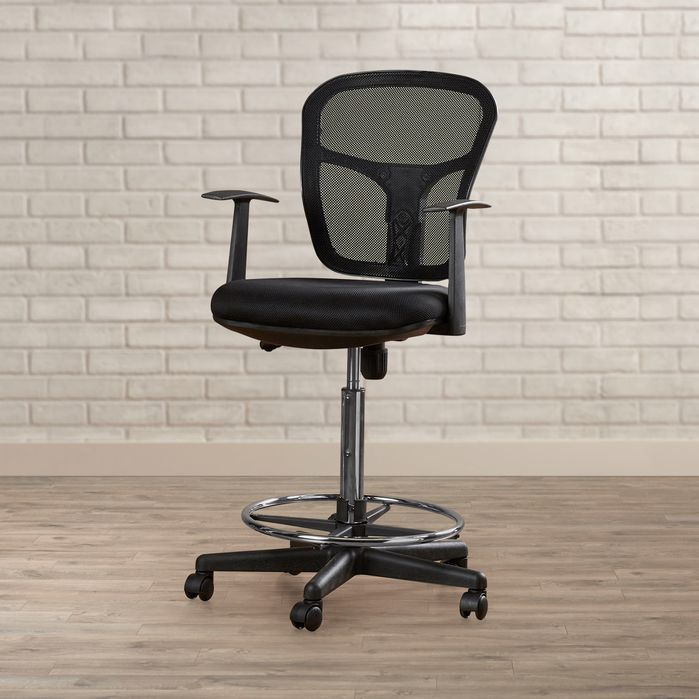 Ninth Avenue Mid-Back Mesh Drafting Chair with Arms