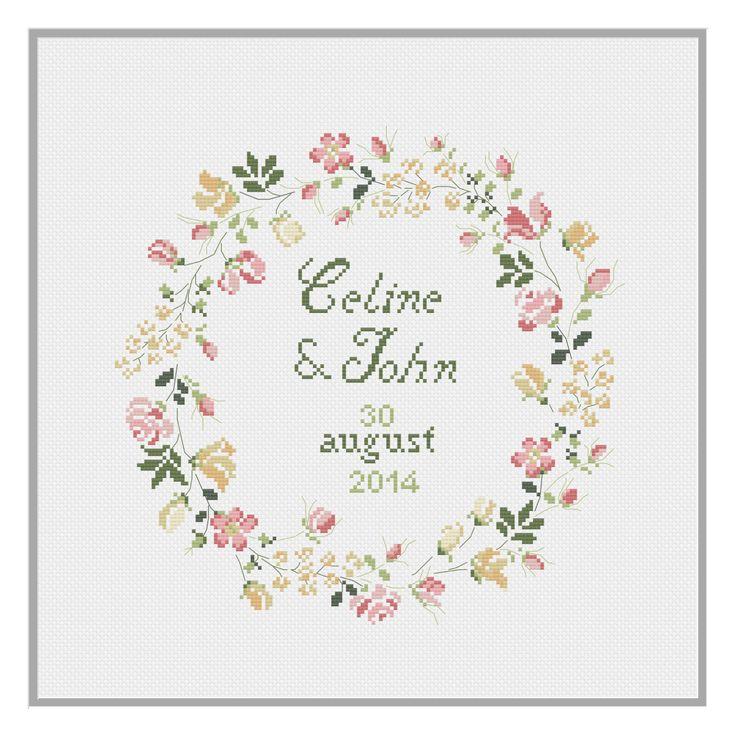 Wedding Celebration Cross Stitch Pattern PDF Download by HeartyCraftology on Etsy https://www.etsy.com/listing/471548693/wedding-celebration-cross-stitch-pattern