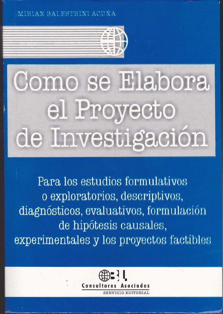 Como Se Elabora El Proyecto de Investigacion Ballestrini 7ma