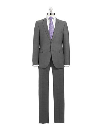 STRELLSON Micro Houndstooth Suit Set - CHARCOAL - Fashion Deals