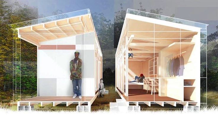 Last year with guidance from the non-profit organization Sawhorse Revolution and various #architecture construction and engineering professionals a group of teens designed seven tiny homes for the Nickelsville #homeless community network in #Seattle. With construction made possible by a successful crowdfunding campaign nearing completion the team is back with plans to build four more moveable eco-friendly structures including a tiny house duplex thats ideal for families. #architecture…