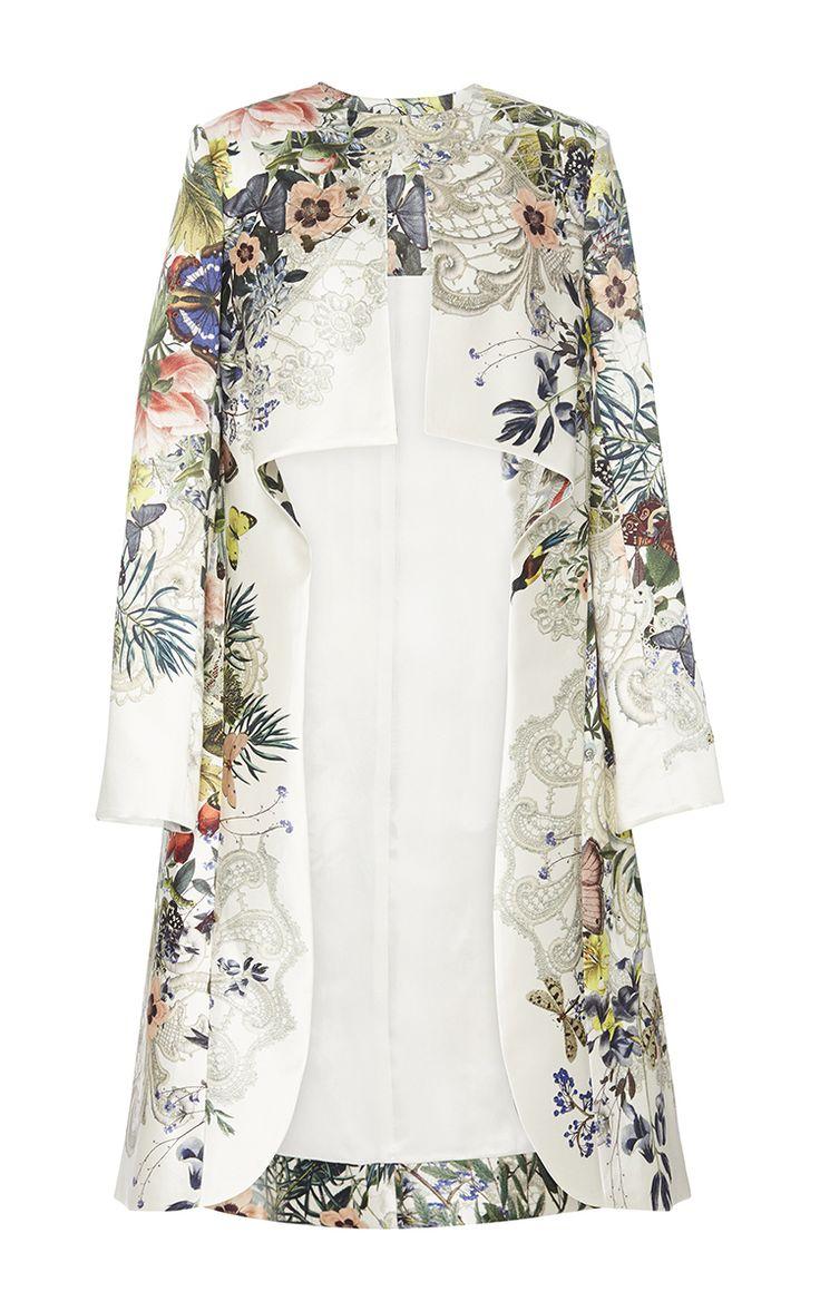 Botanical Print Evening Tunic - Monique Lhuillier Resort 2016 - Preorder now on Moda Operandi