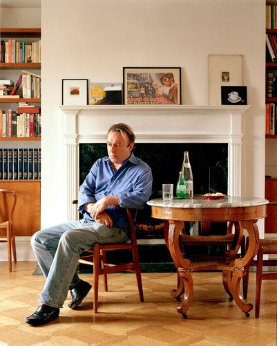 Christopher Hitchens in his home in Washington, D.C., in 2007.