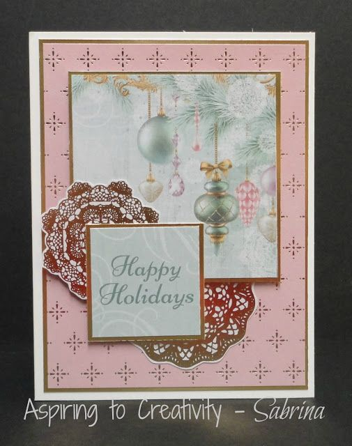Aspiring to Creativity: Kaisercraft Christmas Wishes - Last Minute Cards 2