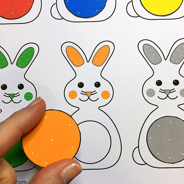 SnapWidget | bunny file folder game for color recognition and review childcareland.com/home/bunny-color-game #childcare #earlyed #ece #homeschool #daycare #kindergarten #prek #preschool #colors