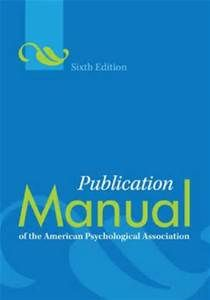 APA Manual 6th Edition - Bing Images