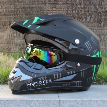 Adult Motocross MX Motocross Helmet Off-Road + Goggles ~S M L XL XXL