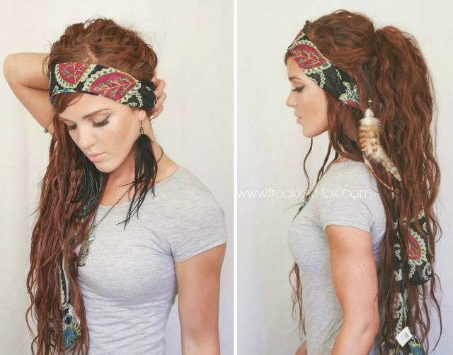 The Freckled Fox - a Hairstyle Blog: Festival Hair Week: Bohemian Gypsy Style