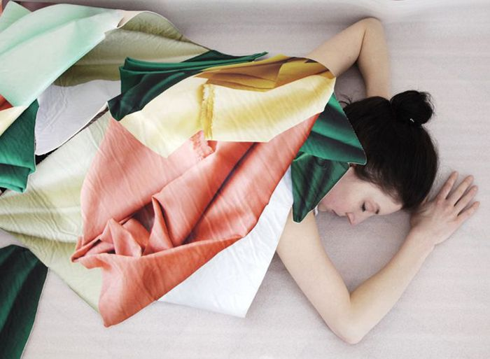 Stéphanie Baechler   Fabric in Folds print pattern
