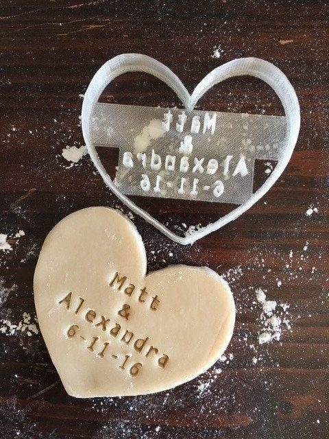 Wedding Heart Cookie Stamp