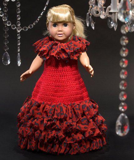Debutante Doll Dress Free Crochet Pattern from Red Heart Yarns