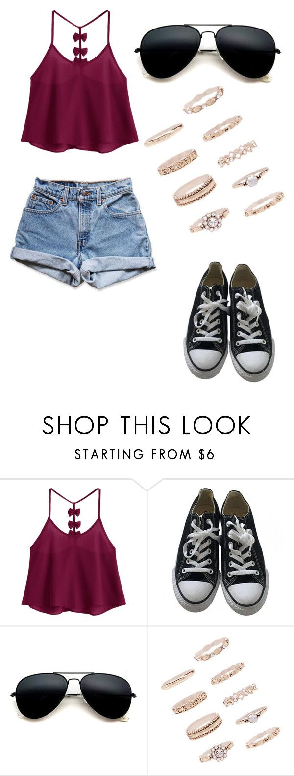 """No name#52"" by kyley-mays on Polyvore featuring Converse, Levi's and Forever 21"