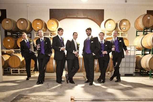 purple groomsmen vests