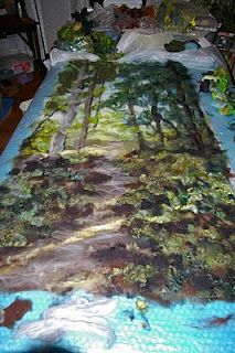 """Felt Inspiration"" Diane Christian blog.  She has amazing and beautiful landscape wool paintings/tapestries.  Love, love, love her work"