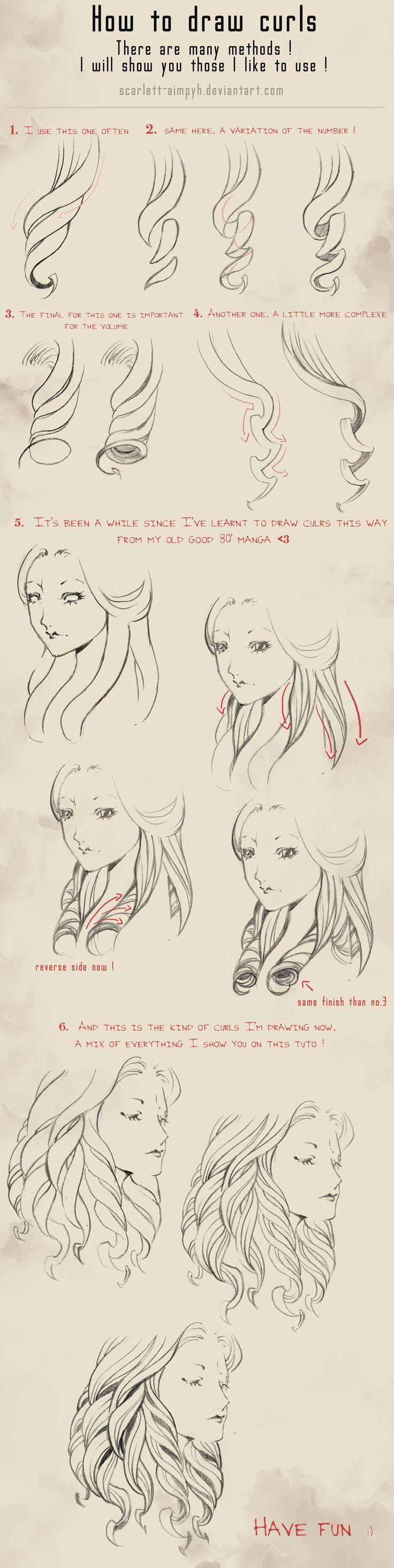 114 - How to draw curls by Scarlett-Aimpyh.deviantart.com on @deviantART