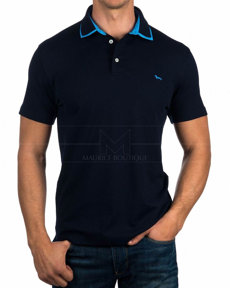 Polos Hombre Harmont & Blaine ® Azul Marino | MEJOR PRECIO