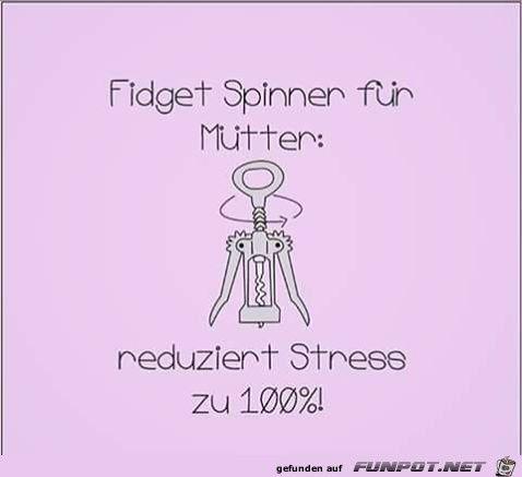 Fidget Spinner f�r M�tter