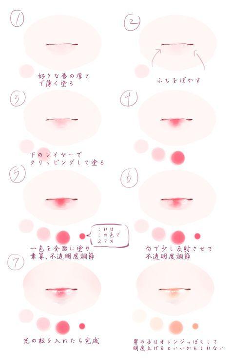 「唇の塗り方」/「氷砂糖カシ」のイラスト [pixiv]
