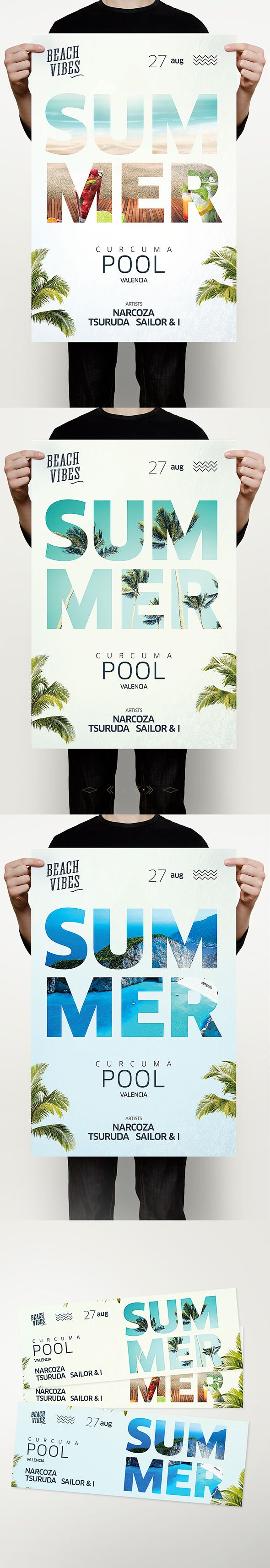 Poster design ideas for school projects - Check Out This Behance Project Summer Pool Template Https
