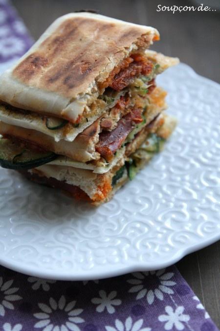 Food - panini - chorizo - courgette