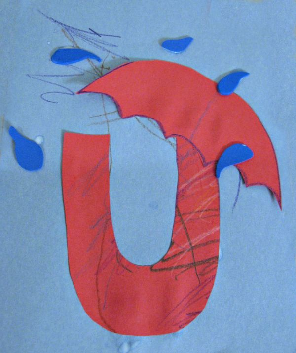 Letter of the week craft - letter u craft and activities for letter of the week.