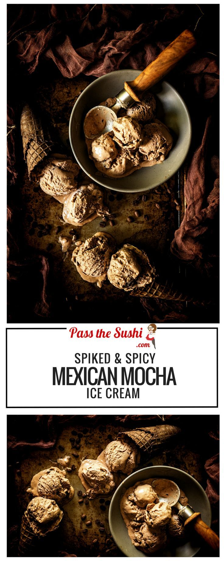 Spiked & Spicy Mexican Mocha Ice Cream - A smooth mocha ice cream with spike…