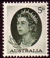 Australia 1963 SG 354 Queen Elizabeth Fine Mint SG 354 Scott 365 Condition Fine MNH Only one post charge applied on multipule purchases Details N B
