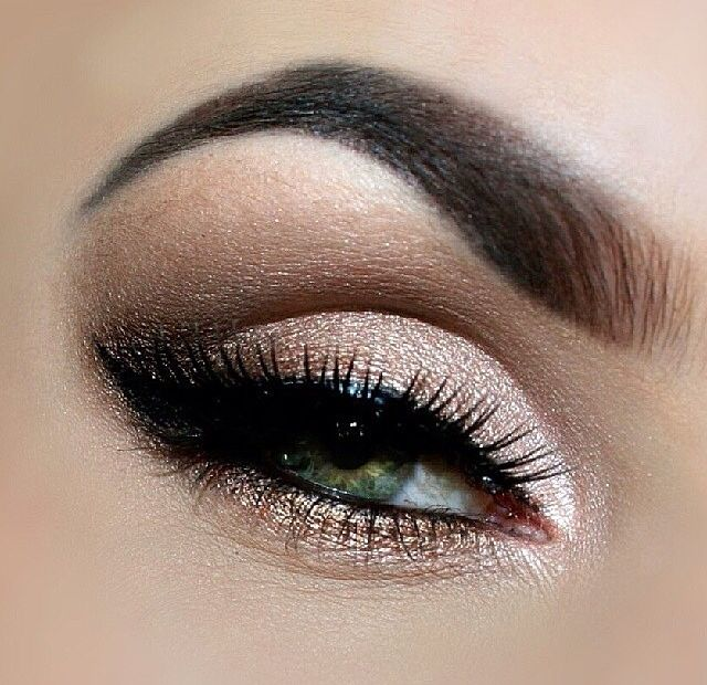 This is perfect wedding makeup! Personally, I wouldn't take the base color up that high at the corners (I prefer a rounded look and not so cat-eye) and a bit lighter defined brows. I absolutely LOVE the emphasis of the lashes rather than the shadows and lid. I wouldn't line the water line though. I would keep the shadow though too make the eyes rounder (like I said above)…
