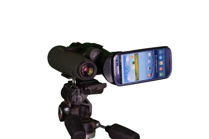 Attach smart phones to Binoculars, Spotting scopes, Telescopes, ETC.