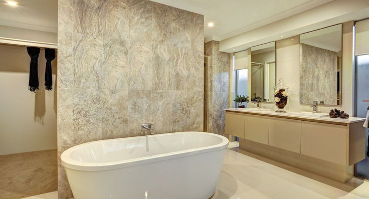 Master ensuite in the Sorrento by Summit Homes. Discover more at https://www.summithomes.com.au/display-homes