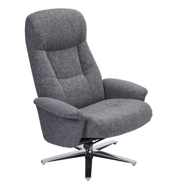 Colella Manual Swivel Recliner With Ottoman With Images Recliner With Ottoman Chair And Ottoman Recliner Chair