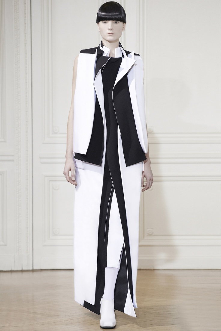 Rad Hourani Haute Couture Spring Summer 2013... Black and white color blocking