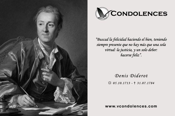 Denis Diderot - Escritor, Filósofo y Enciclopedista Francés. Uno de los más representativos del periodo de la Ilustración.