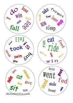 Dobble - irregular verbs - a game