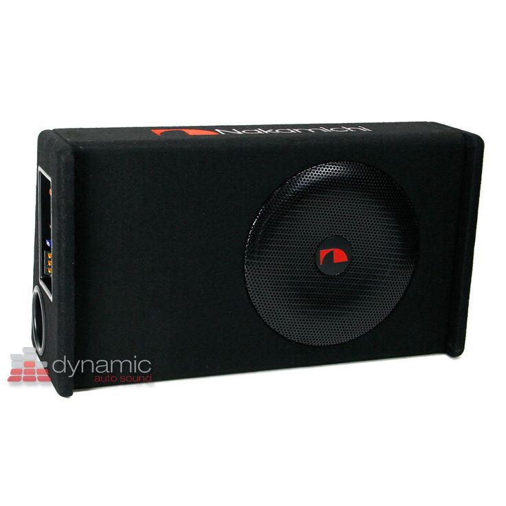 """Nakamichi NBX25L Car Stereo 10"""" Amplified N Series Loaded Powered Subwoofer New 