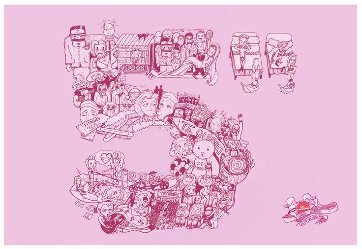 """Ilustración Mr Prolong (5"""" segundos)  Largas historias merecen un largo final Long stories deserve a long finish  (para verla en alta visita) http://malpegados.tumblr.com/"""