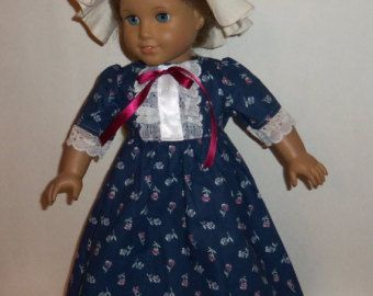 18 Inch Doll 1770's Colonial Outfit 5 Piece von RainbowLilyDesigns