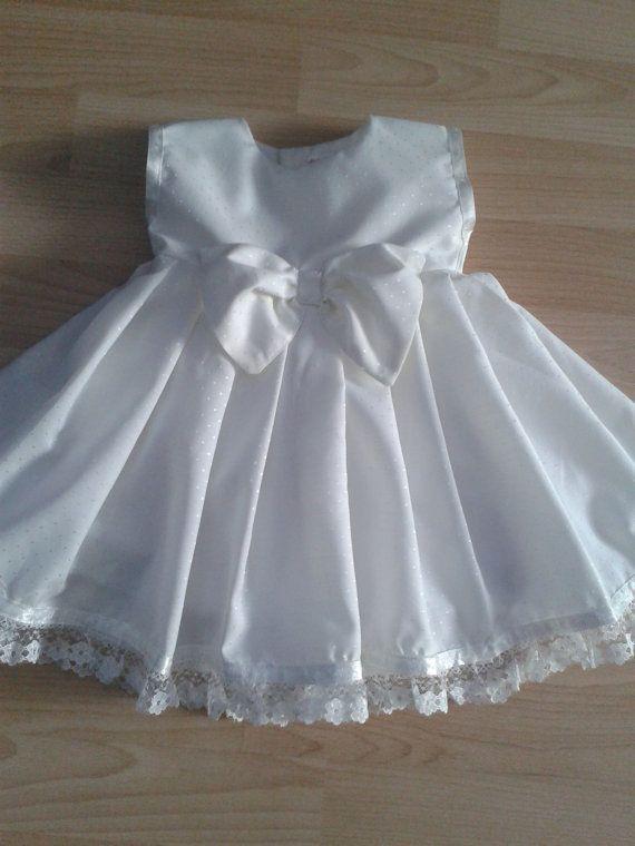 Daisy -  Cream Spot Baby Dress