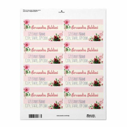 Baby Shower Shipping Labels Floral Pink - baby gifts giftidea diy unique cute