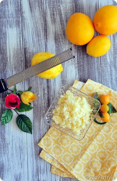 Meyer Lemon Sugar Scrub:  Makes 1 (1 cup) jar  Zest of 2 Meyer Lemons (you can substitute with regular lemon as well) 1 cup of granulated sugar 2 tablespoons of organic virgin coconut oil 1 tablespoon organic extra virgin olive oil In mixing bowl, stir all ingredient together until well blended.