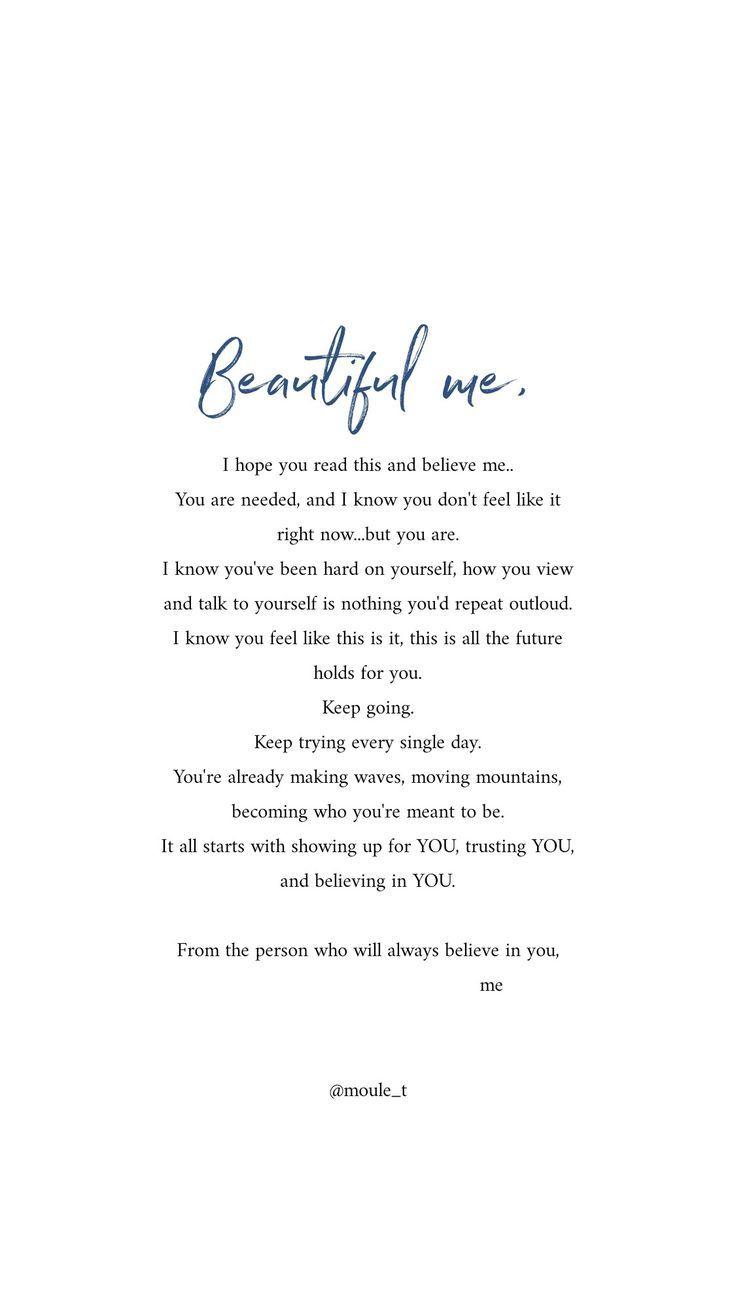 Für mich werde ich immer an dich glauben und in einer Zeit der Not für dich da…