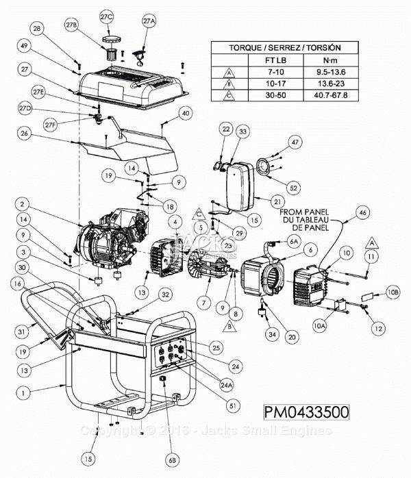 automotive generator wiring diagram 10 coleman powermate 3500 generator with honda engine wiring  10 coleman powermate 3500 generator