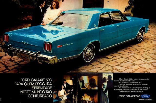 Anúncio Ford Galaxie 500 - 1971
