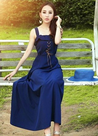 Baju Import Dress DS2730-Dark Blue