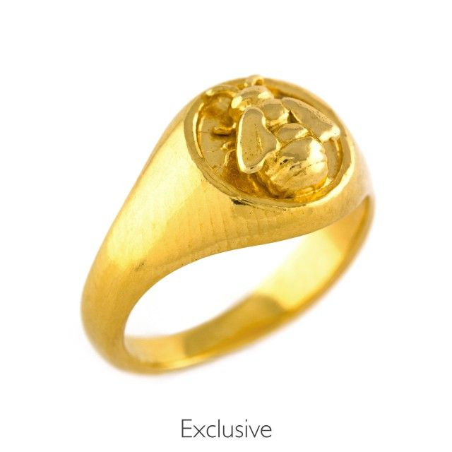 Alex Monroe Bee Signet Ring